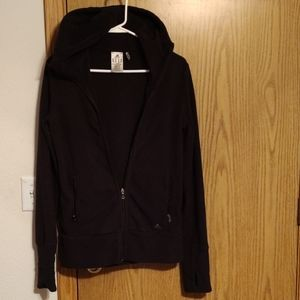 Adidas fleece hooded jacket size med